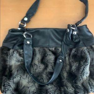 B makowsky faux fur purse